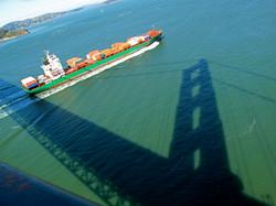 Cargo Ship, Shadow of Golden Gate