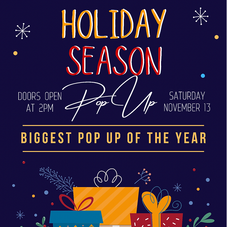 Holiday Season Pop Up Shop