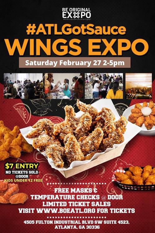 ATL Got Sauce Wing Expo Vendor Slot