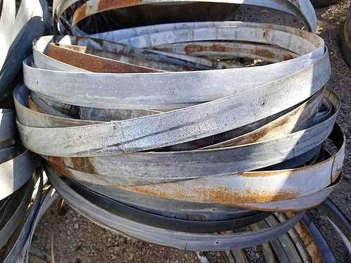 10 used wine barrel hoop bands