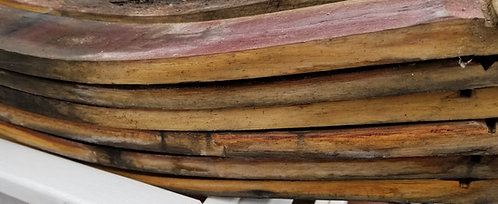 Six (6) Extra Wide Used Wine Barrel Staves