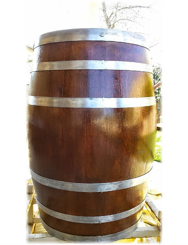 Decorative Wine Barrel - Natural Bands