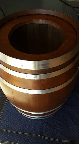 Decorative Wine Barrel with Round Lid