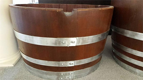 Decorative Planter Barrel - Natural bands