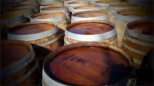 Used Oak Wine Barrel - FREE Shipping to California!