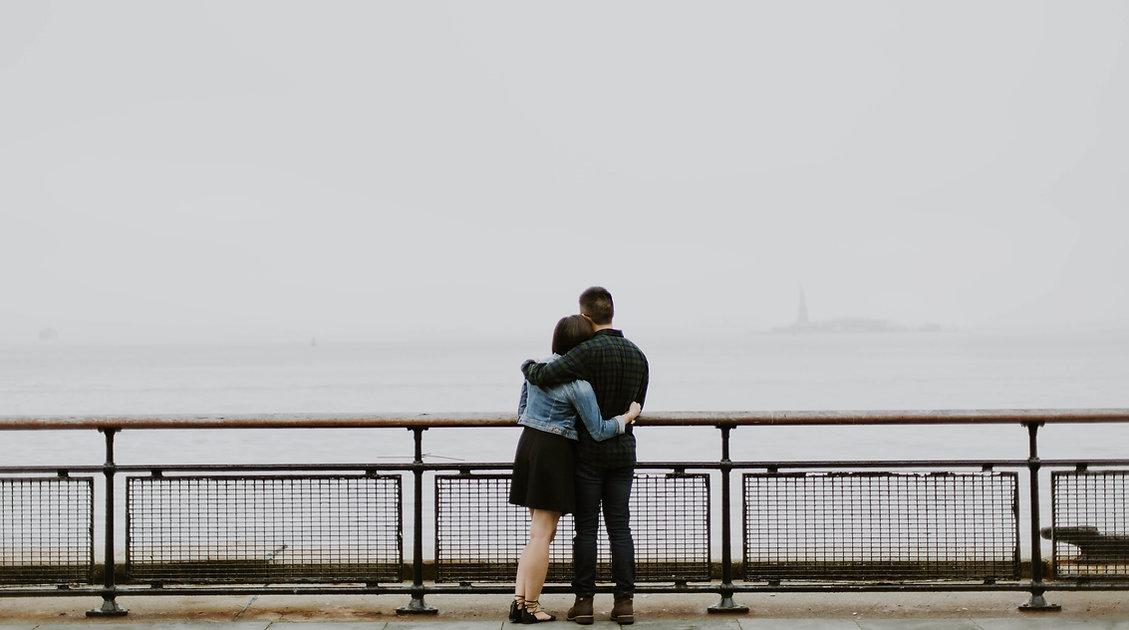 Couple Enjoying the Ocean View