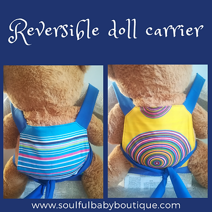 STRIPES AND CIRCLES DOLL CARRIER