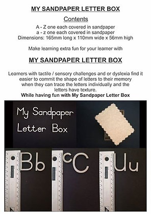 MY SANDPAPER LETTER BOX