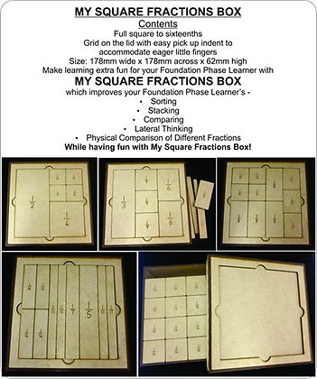 MY SQUARE FRACTIONS BOX