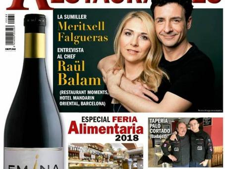 PORTADA Y FOTOS PARA LA REVISTA VINOS Y RESTAURANTES. #vinosyrestaurantes #raulbalam #merifalgueras