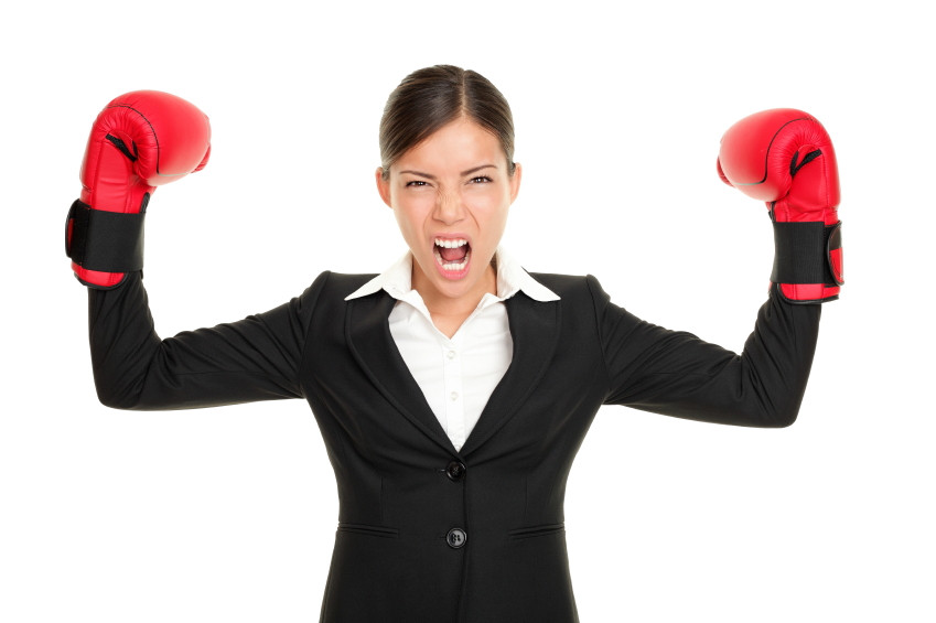 Business-Woman-Boxing