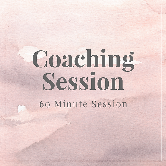 Coaching Session - 60 Minutes