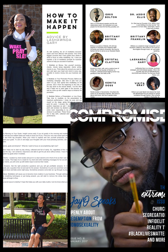 OMG @LASHANDA FEATURED IN NO COMPROMISE MAGAZINE