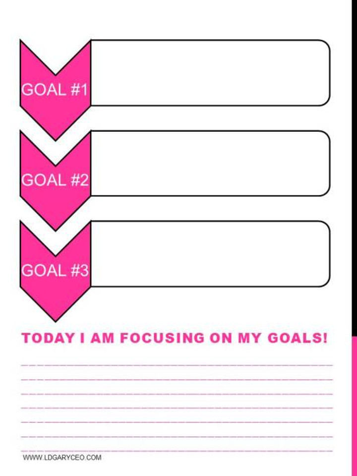 Goal Focus Page