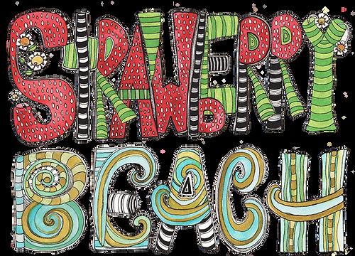 Strawberry Beach Children's Book Art
