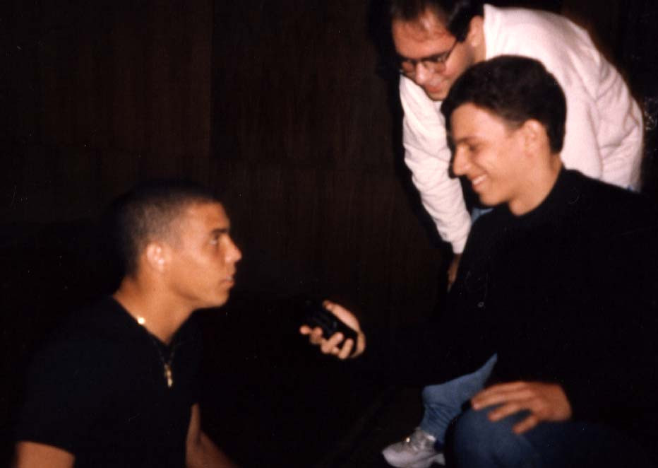 Ronaldo durante a entrevista