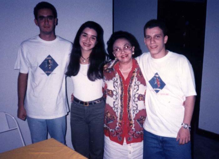 Com as atrizes Alexandra Marzo e Lupe Gigliotti