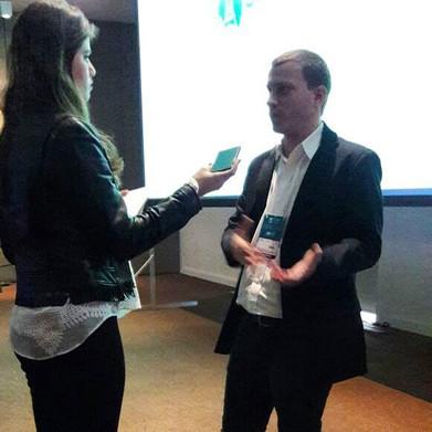 Ao final da palestra, entrevista com o Prof. Antonio Latempa