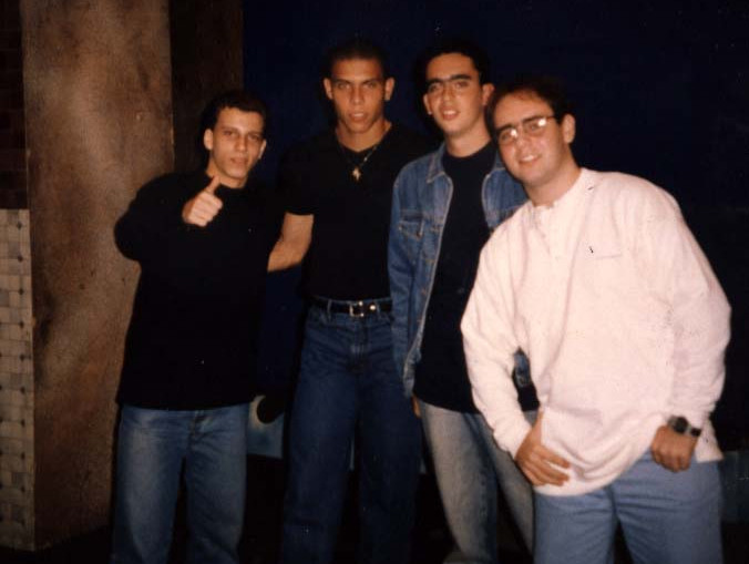 Ronaldo entre o trio da Rádio