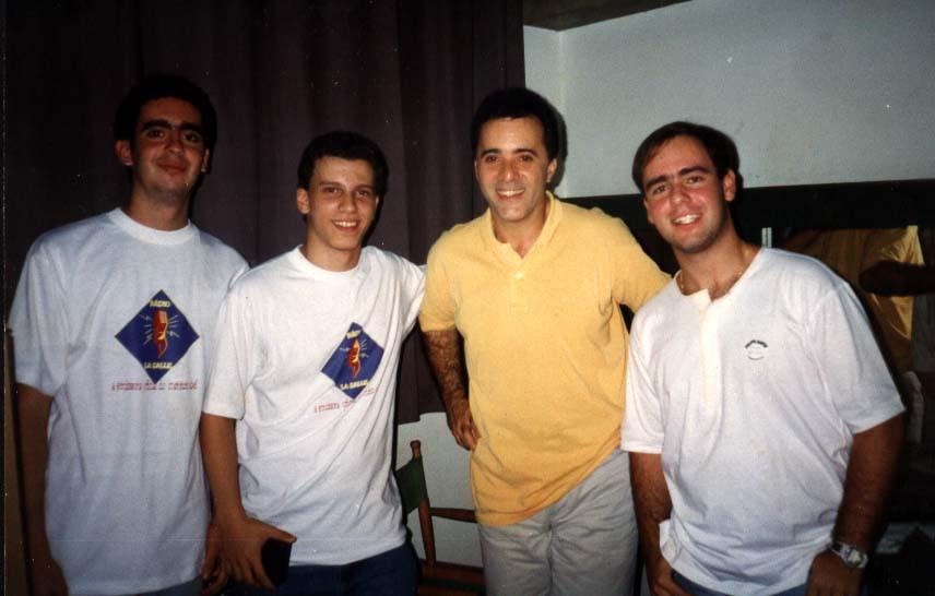 Tony Ramos e o trio da Rádio La Salle