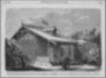 Сельская школа – экспонатотдела сельского домоводства. Политехнической выставки, построенных Н. Шохиным (из журнала «Всемирная иллюстрация» за 1872 год)
