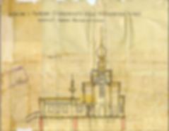 Рис. 8 Разрез церкви с. Рыжево Егорьевского уезда Московской губернии Чертеж архитектора Н.Д. Виноградова 1927 года