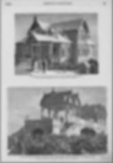 Дом помещика имост между Средним и Нижним Александровскими садами во время. Политехнической выставки, построенных Н. Шохиным (из журнала «Всемирная иллюстрация» за 1872 год)