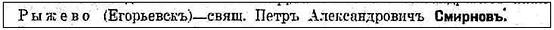 Рис. 4 Фрагмент из «Адресного календаря Рязанской губернии» за 1914 год
