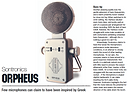 Music Tech Magazine review of Sontronics Orpheus microphone