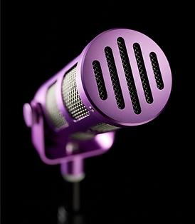 Sontronics Podcast Pro Purple front grille close-up