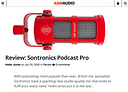 Ask Audio review of Sontronics Podcast Pro microphone