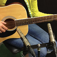 Sontronics STC-1S microphones on acoustic guitar