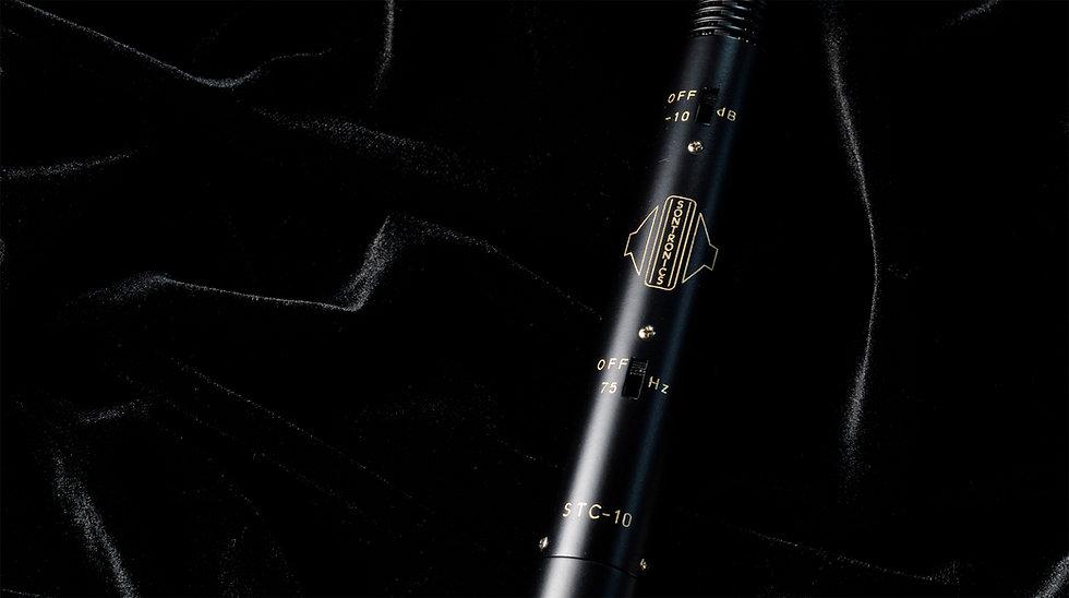 Sontronics STC-10 microphone on black velvet
