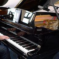 Sontronics Apollo microphone on grand piano