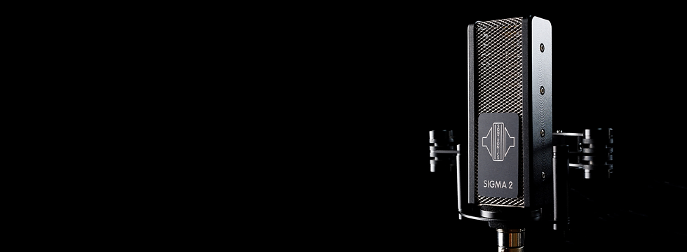 Sontronics Sigma 2 microphone on black background