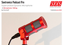 Sound On Sound review of Sontronics Podcast Pro microphone