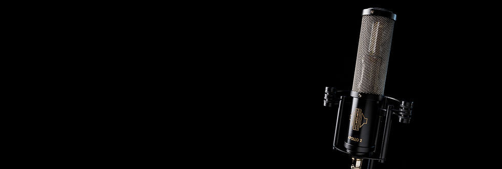 Sontronics Apollo 2 microphone on black background