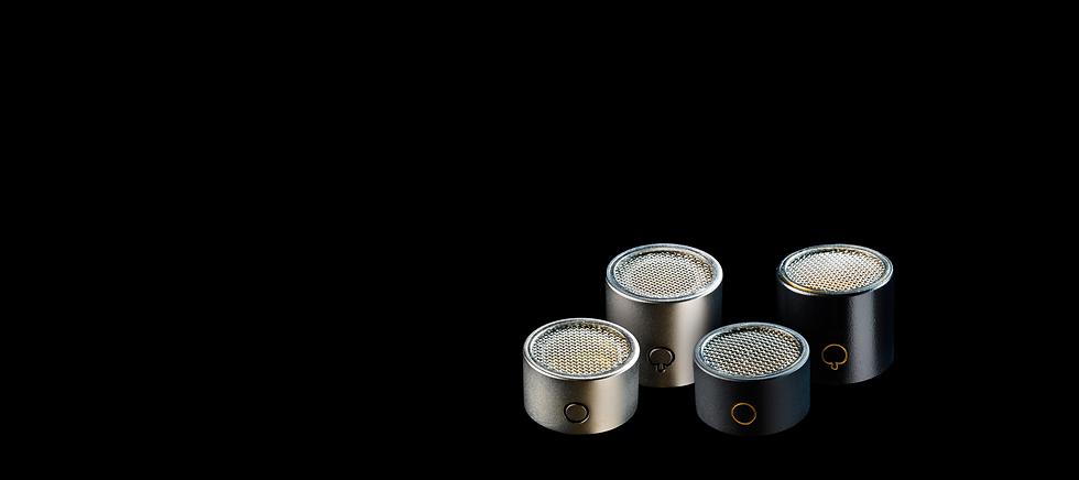 Sontronics Hyper & Omni capsules on black background