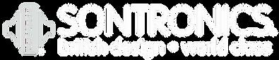 SONTRONICS logo white on black BRITISH DESIGN WORLD CLASS