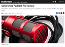 Future Music PLATINUM AWARD review of Sontronics Podcast Pro microphone