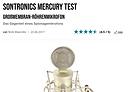 Bonedo Online 4.5 STAR review of Sontronics Mercury