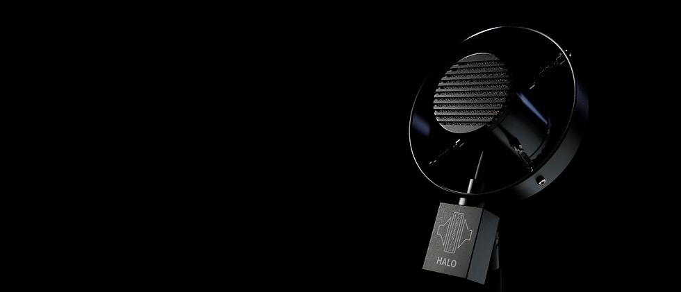 Sontronics Halo angled on black background
