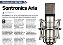 Audio Media review of Sontronics Aria