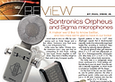 Recording Magazine review of Sontronics Orpheus