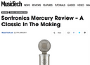 Music Tech 10/10 Excellence review of Sontronics Mercury