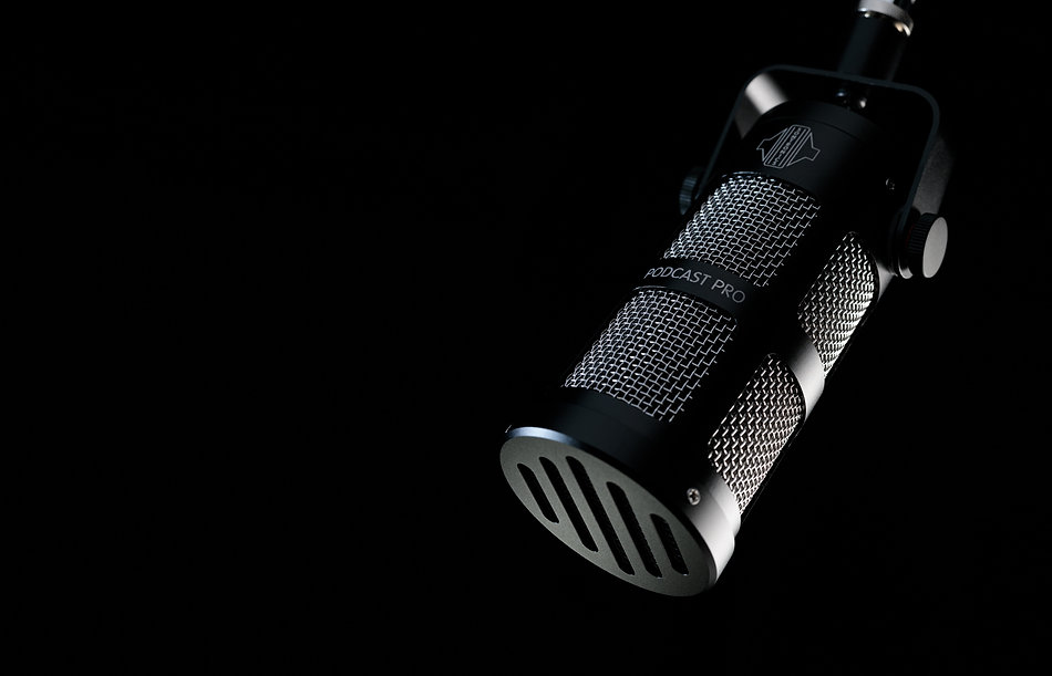 Sontronics Podcast Pro Black microphone close-up of grille