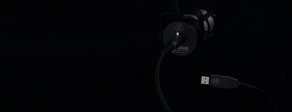 Sontronics XLR-USB cable with Podcast Pro microphone