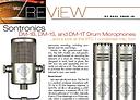 Recording Magazine review of Sontronics drum microphones