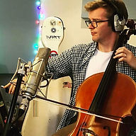 Peter Gregson using Sontronics Aria microphone on cello