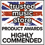 Trusted Music Store Highly Commended award for Sontronics Mercury